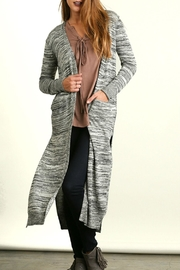 Umgee USA Patterned Long Cardigan - Front cropped