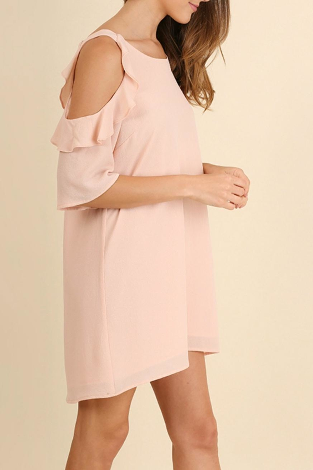 Umgee USA Peachy Keen Dress - Front Full Image