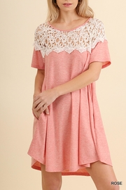 Umgee USA Pink Crochet Dress - Product Mini Image
