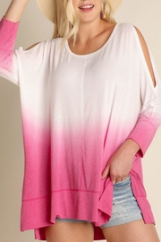 Umgee USA Pink Dyed Tunic Top - Front cropped
