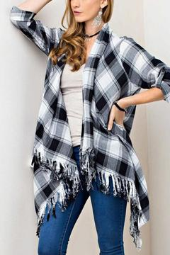 Shoptiques Product: Plaid Cardigan