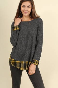 Shoptiques Product: Plaid Contrast Sweater