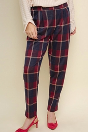 Umgee USA Plaid High-Waisted Trousers - Product Mini Image