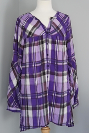 Umgee USA Plaid Loose Shirt - Product Mini Image