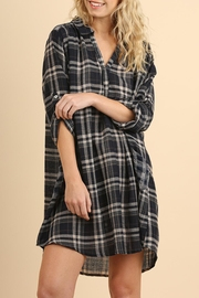 Umgee USA Plaid Pocket Tunic - Product Mini Image