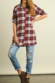 Umgee USA Plaid Pockets Tunic - Product Mini Image