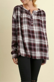 Umgee USA Plaid Popover - Product Mini Image