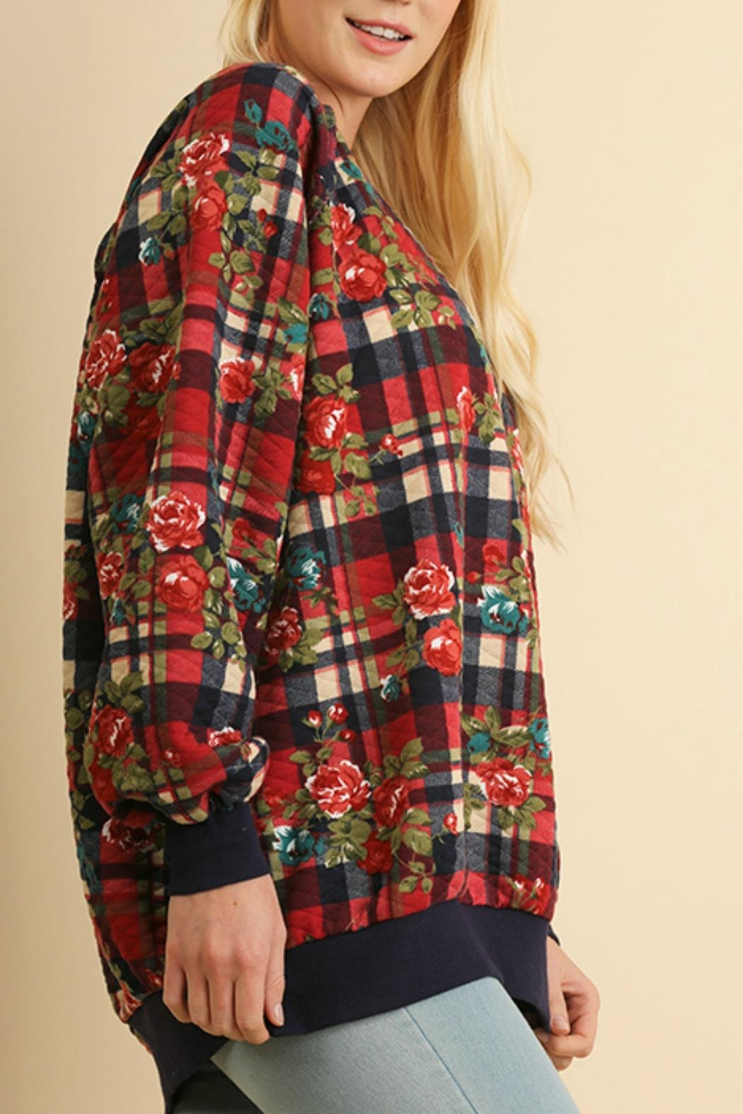 Umgee USA Plaid Quilted Floral - Front Full Image