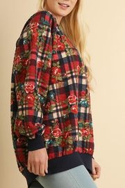 Umgee USA Plaid Quilted Floral - Front full body