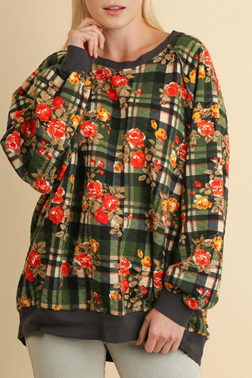 Umgee USA Plaid Quilted Floral - Main Image