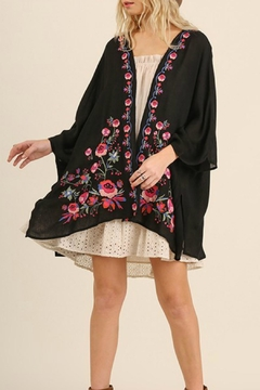 Shoptiques Product: Plus Embroidered Kimono