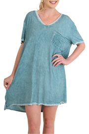 Umgee USA Pocket T-Shirt Dress - Product Mini Image