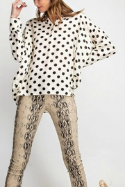 Umgee USA Polka Dot Shirt - Front cropped