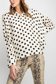 Umgee USA Polka Dot Shirt - Side cropped