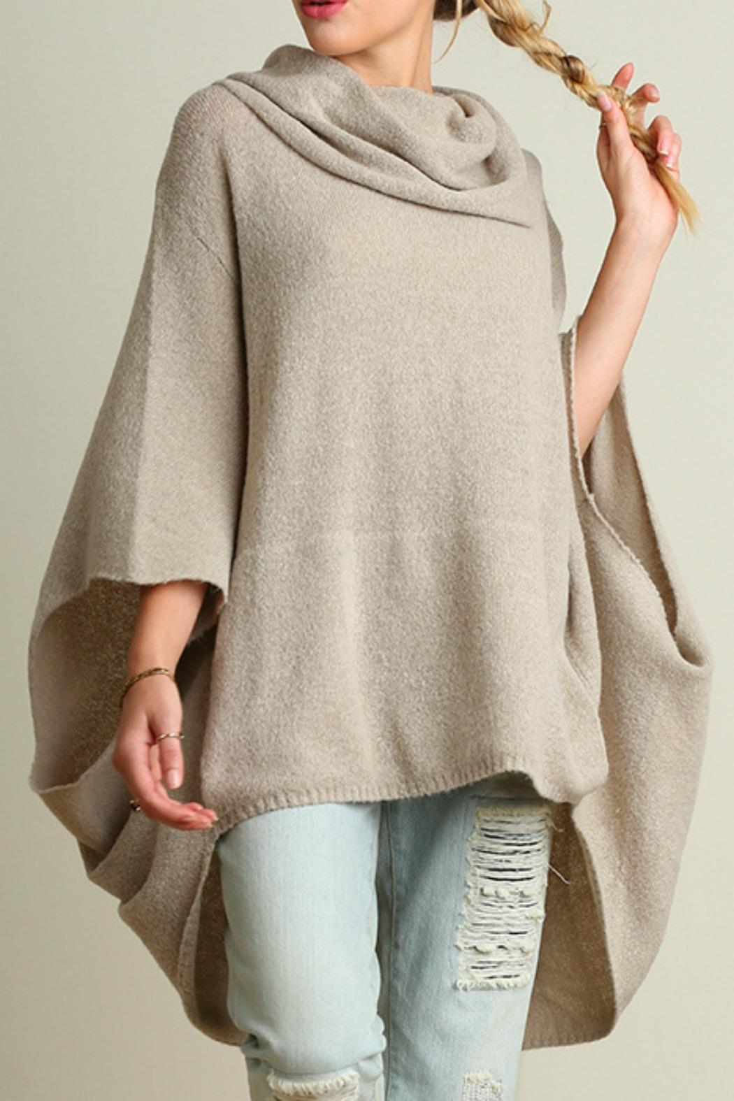 Umgee USA Cowl Neck Poncho from Texas by BareTrees Boutique ...