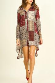 Umgee USA Print Shift Dress - Product Mini Image