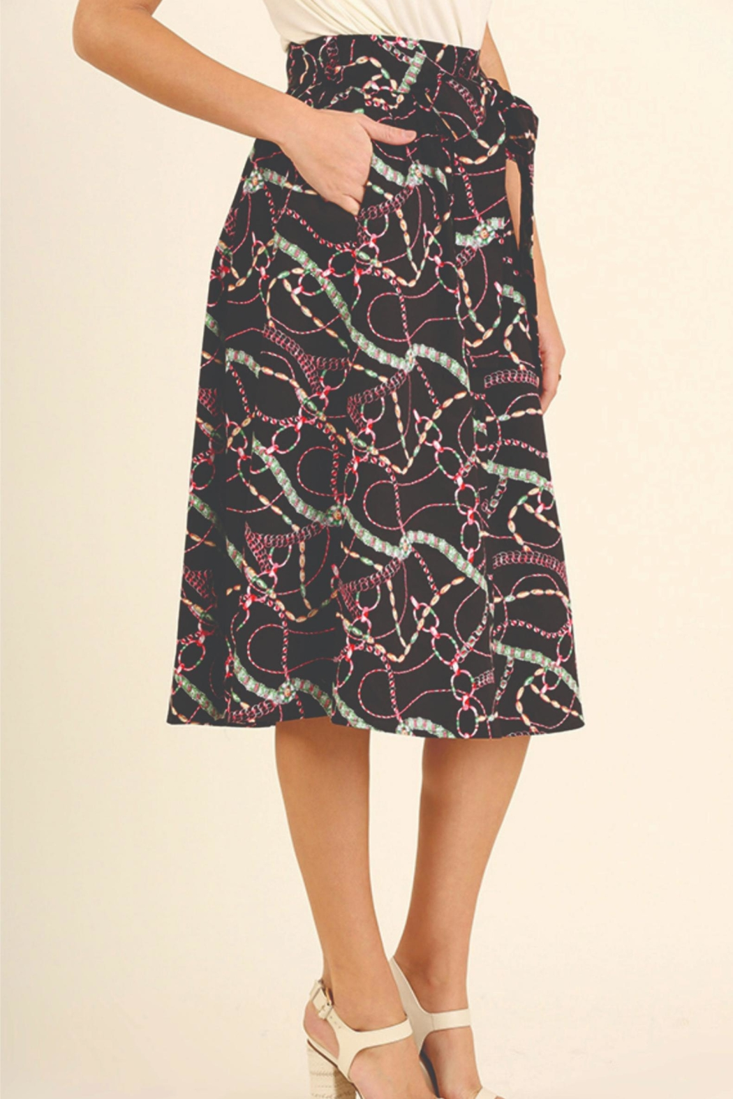 Umgee USA Print Skirt - Side Cropped Image