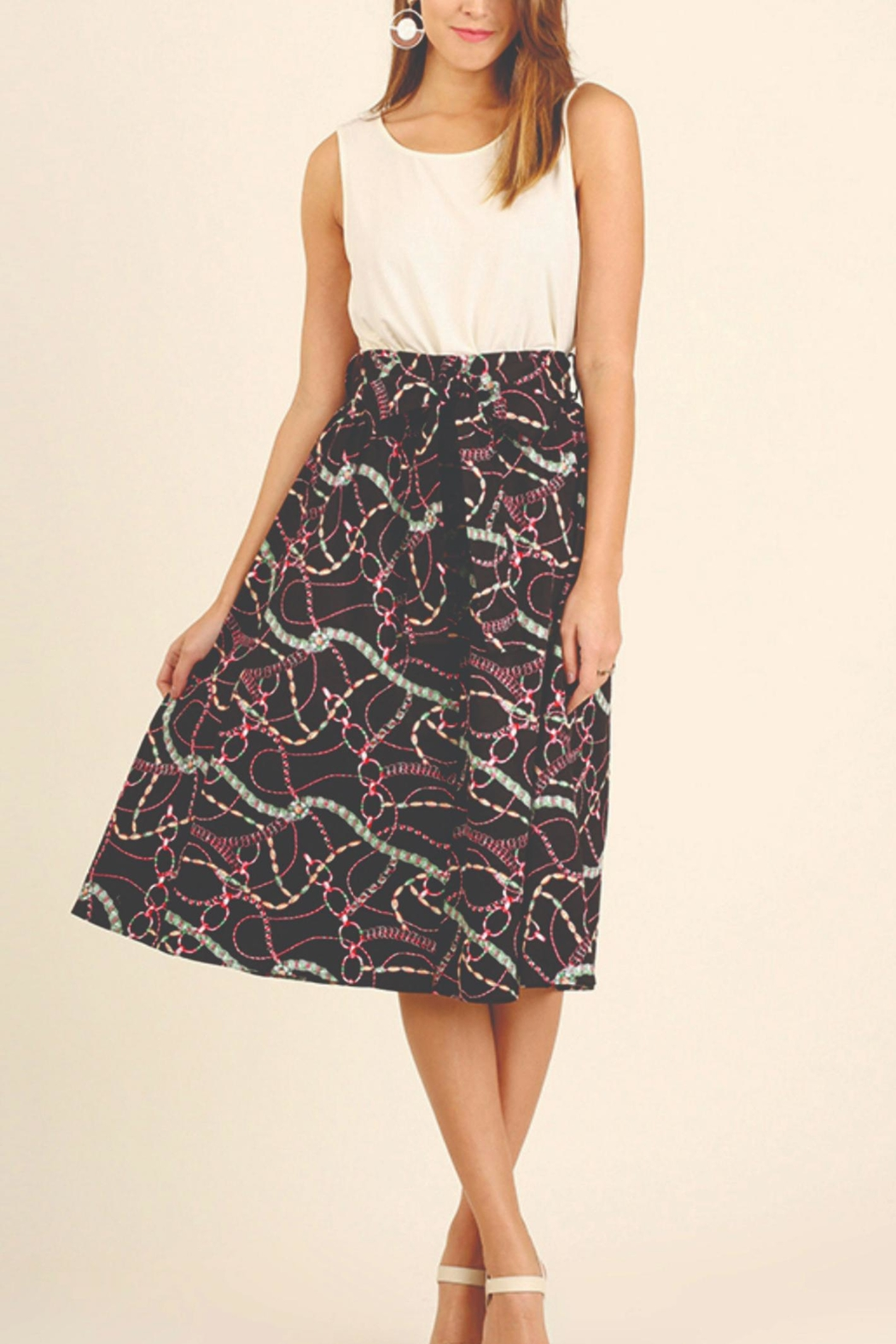Umgee USA Print Skirt - Front Full Image