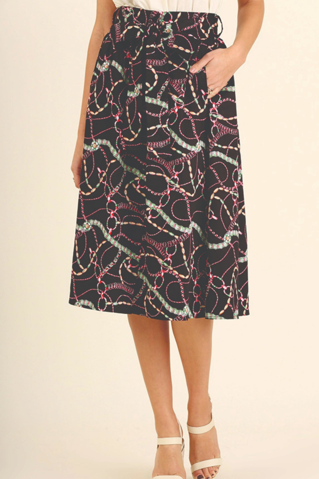 Umgee USA Print Skirt - Main Image