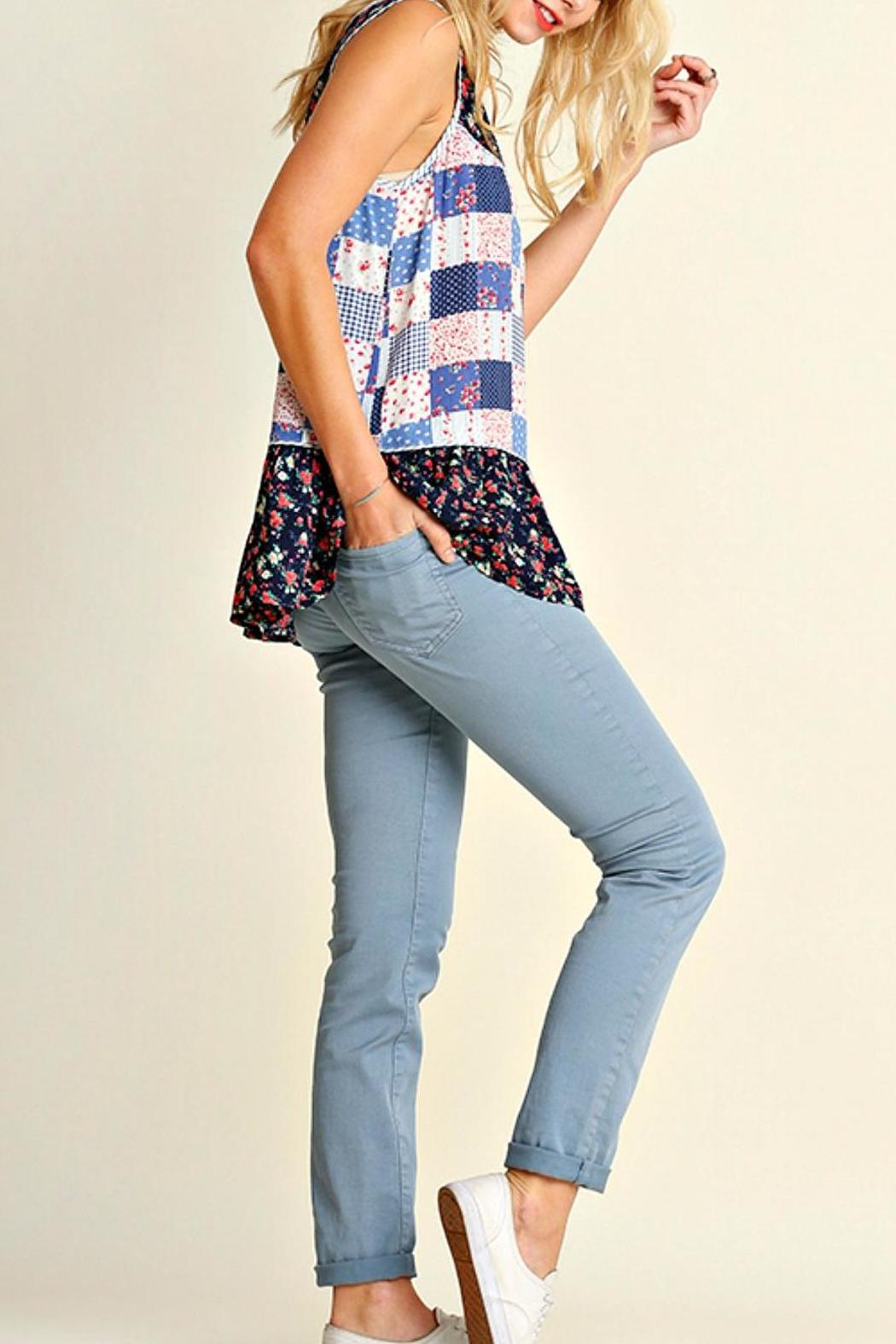 Umgee USA Printed Sleeveless Top - Front Full Image