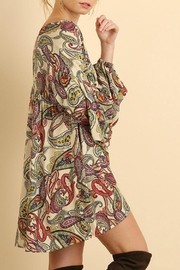 Umgee USA Puff Sleeve Paisley - Front full body