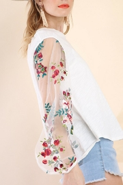 Umgee USA Puff Sleeve Top - Front full body