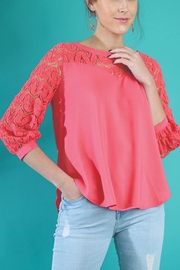 Umgee USA Puff Sleeve Top - Front cropped