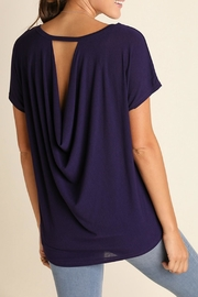 Umgee USA Purple Keyhole Top - Front full body