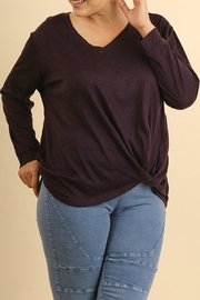Umgee USA Purple Sweater Top - Product Mini Image