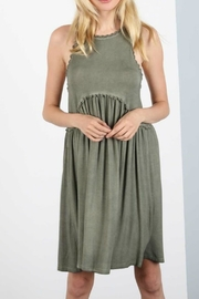 Umgee USA Racer Babydoll Dress - Front cropped