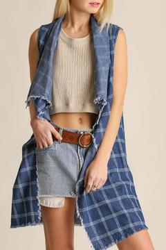 Shoptiques Product: Raw Hem Denim Vest