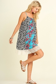 Umgee USA Red/blue Provence Sunddress - Front cropped