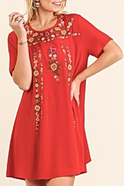 Umgee USA Red Embroidered Dress - Product Mini Image