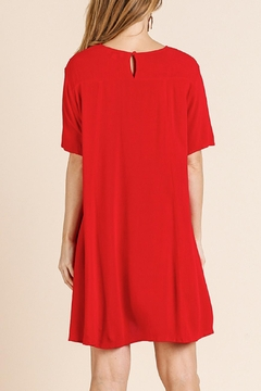Umgee USA Red Embroidered Dress - Alternate List Image