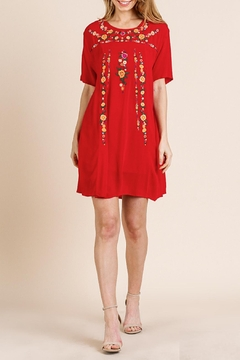 Umgee USA Red Embroidered Dress - Product List Image