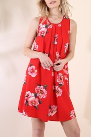 Umgee USA Red Floral Dress - Product Mini Image