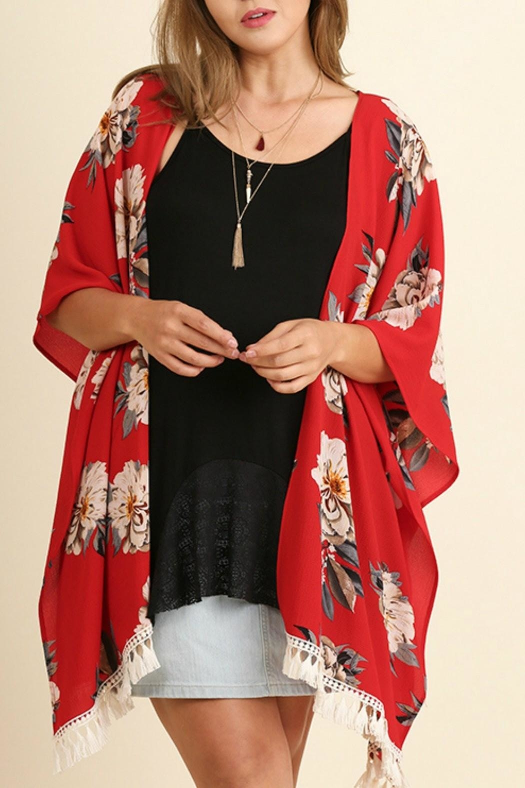 Umgee USA Red Floral Kimono from Montana by Foxwood Boutique ...