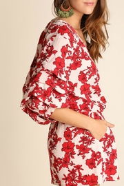 Umgee USA Red Floral Romper - Side cropped
