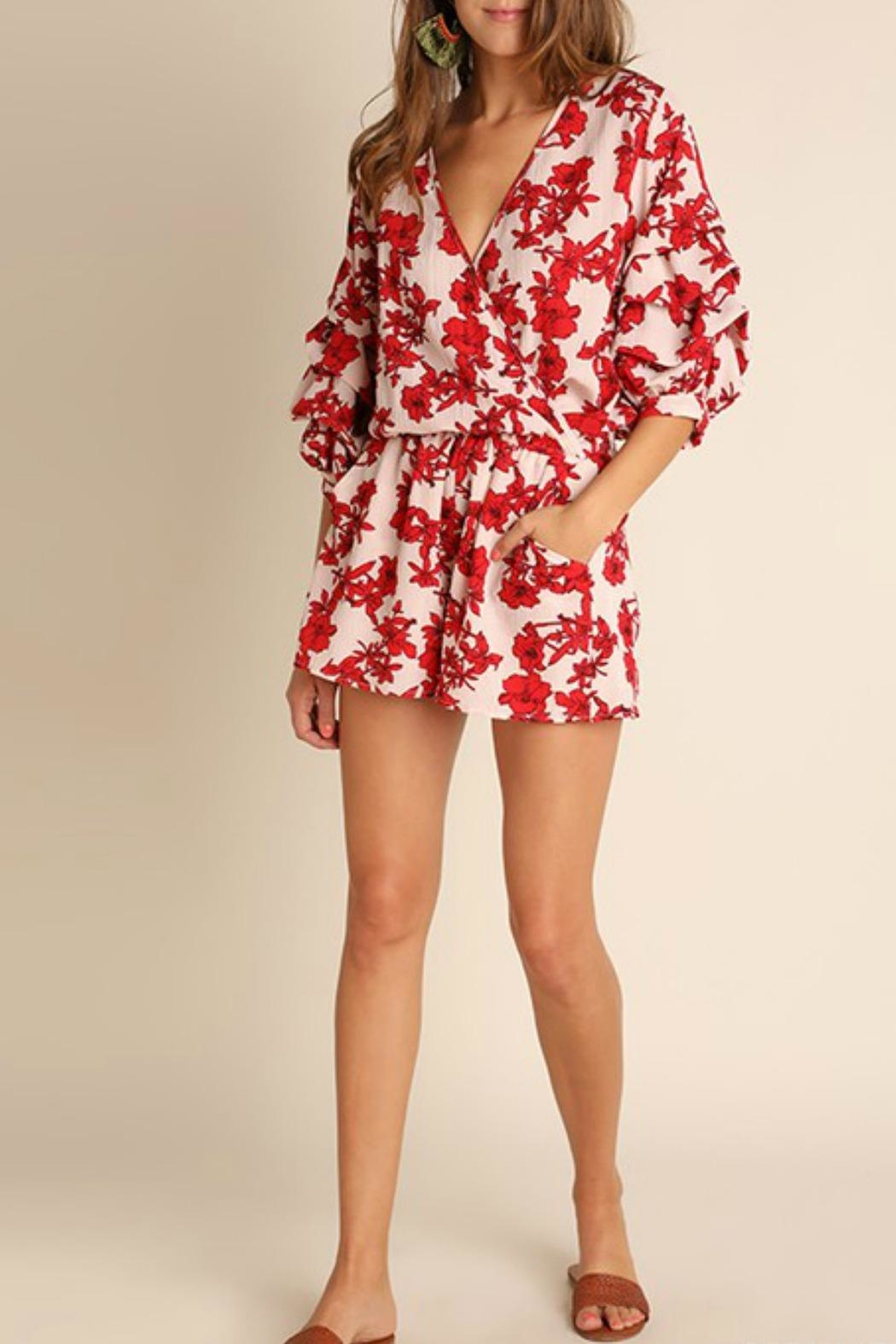 Umgee USA Red Floral Romper - Main Image
