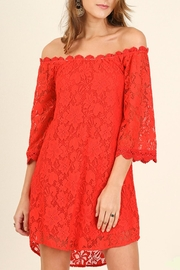 Umgee USA Red Lace Dress - Front cropped