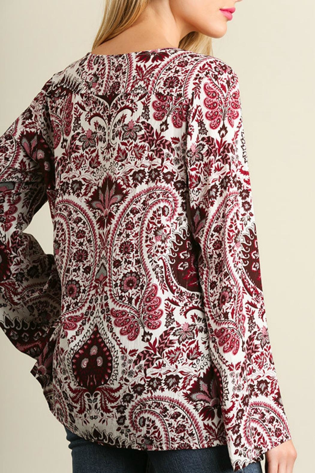Umgee USA Red Paisley Bell - Side Cropped Image