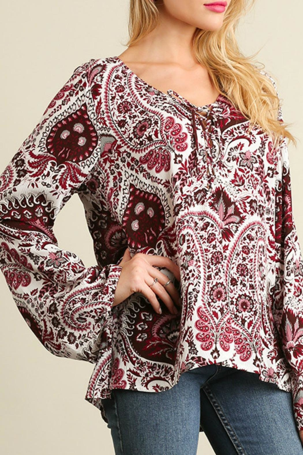 Umgee USA Red Paisley Bell - Front Full Image