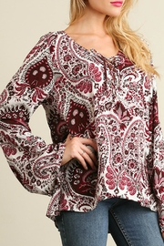 Umgee USA Red Paisley Bell - Front full body