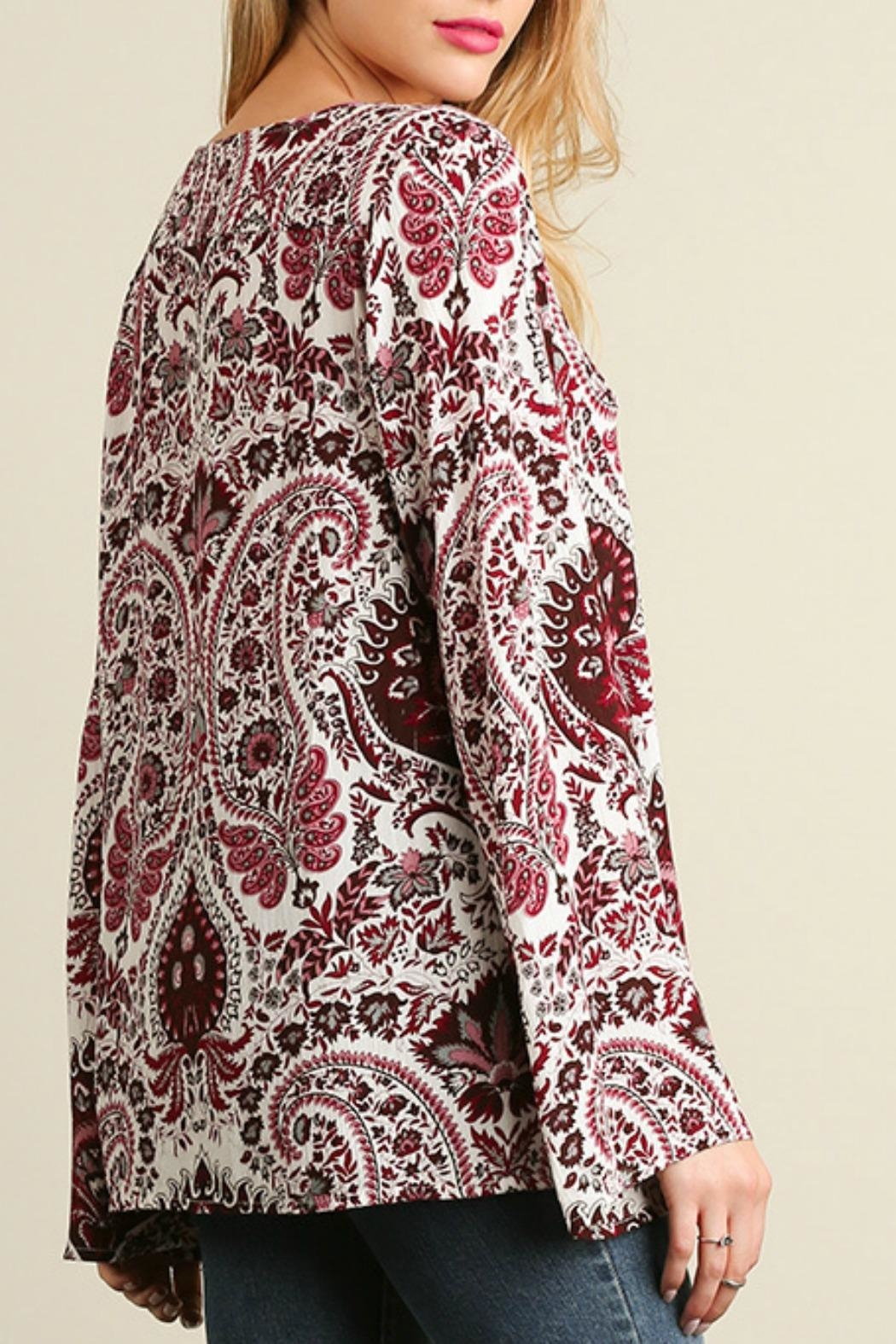 Umgee USA Red Paisley Bell - Back Cropped Image