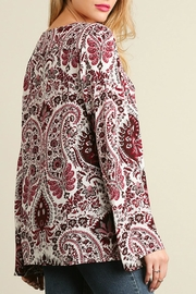 Umgee USA Red Paisley Bell - Back cropped