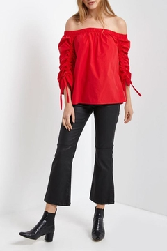 Umgee USA Red Ruched Top - Product List Image