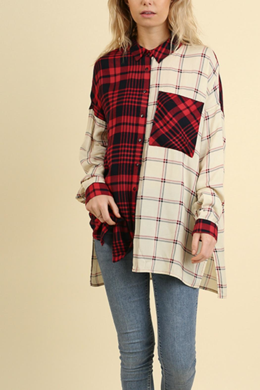 Umgee USA Red & White Flannel - Front Full Image