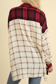 Umgee USA Red & White Flannel - Back cropped