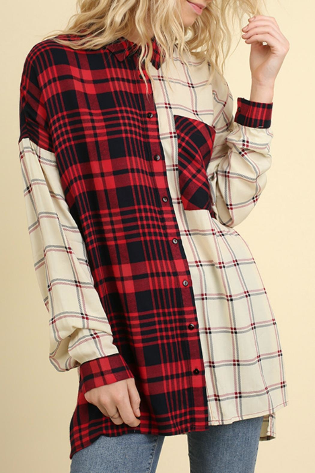 Umgee USA Red & White Flannel - Main Image