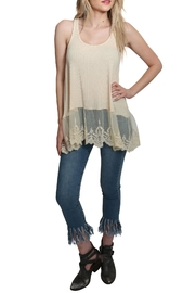 Umgee USA Ribbed Tank Lace Top - Product Mini Image